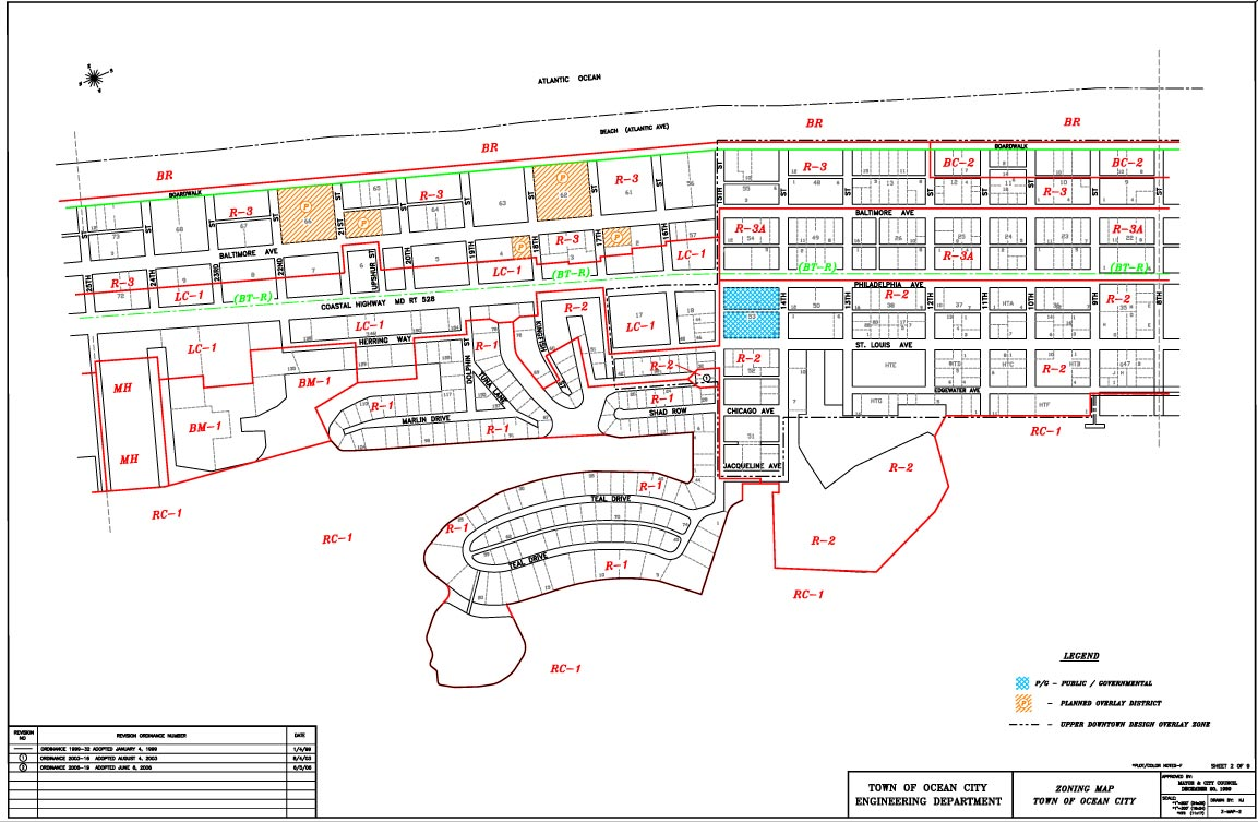 Zoning Maps Town Of Ocean City Maryland