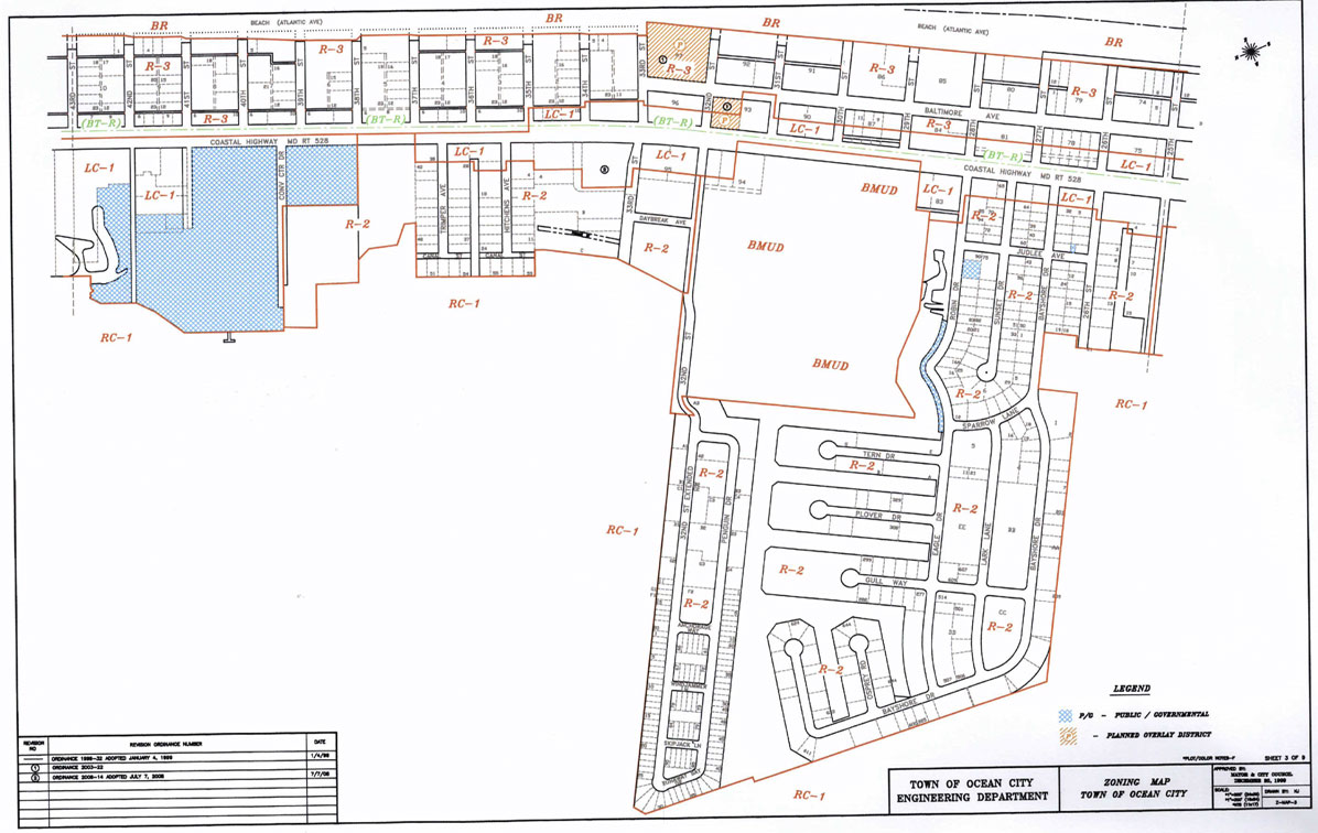 Zoning Maps Town Of Ocean City Maryland - Maryland city map
