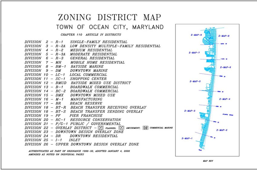 Zoning Maps Town Of Ocean City Maryland - Ocean city md map