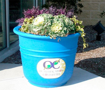 Ocean City Planted Flower Pot