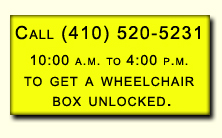 Get a wheelchair box unlocked