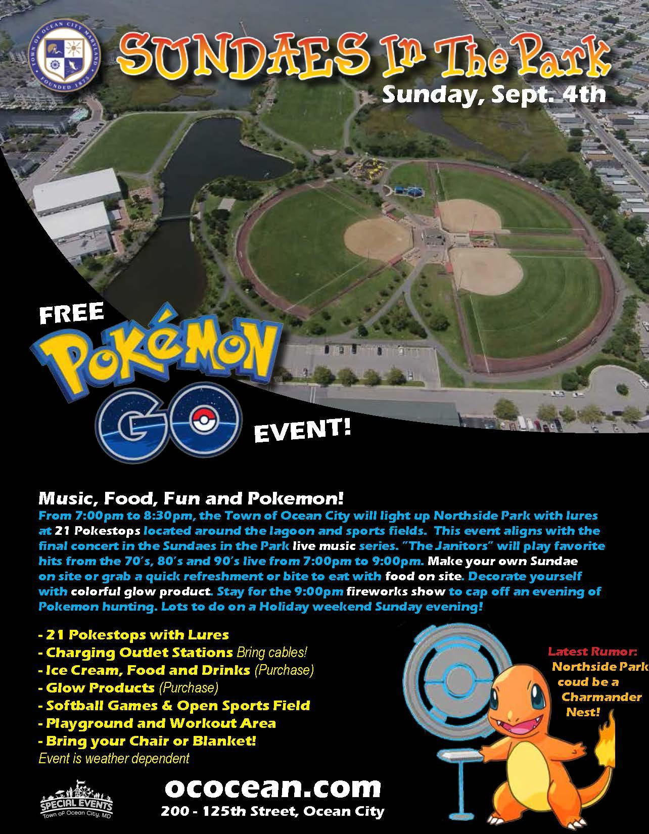 Sundaes in the Park will Wrap Up with Pokémon Go Event -