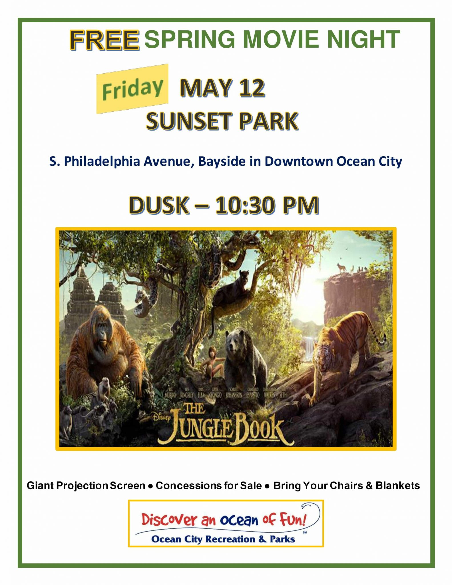 2017 Spring Movie at Sunset Parks Jungle Book - Town of