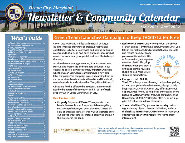 2021 Newsletter and Calendar