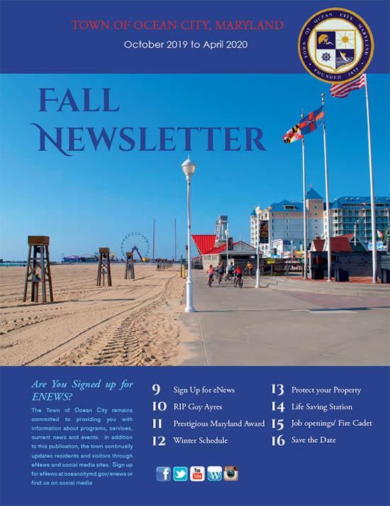 Ocean City Md Events 2020.Ocean City Newsletter And Community Calendar Town Of Ocean