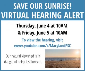 Save our Sunrise Virtual Hearing Alert